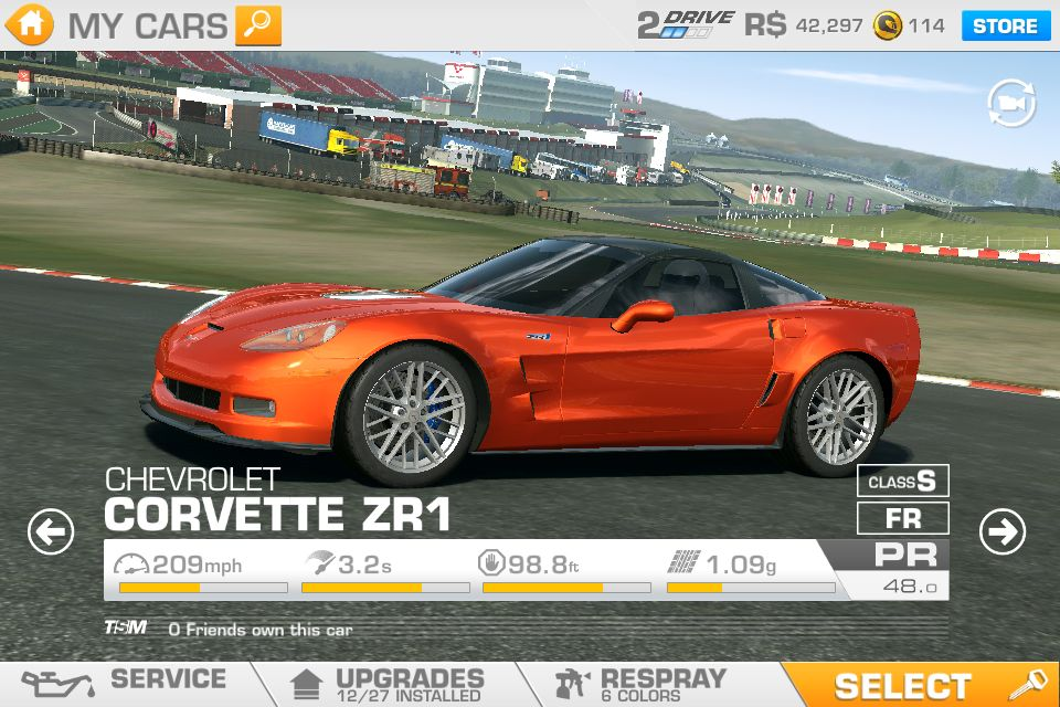 Zr1 That I Have In Real Racing 3
