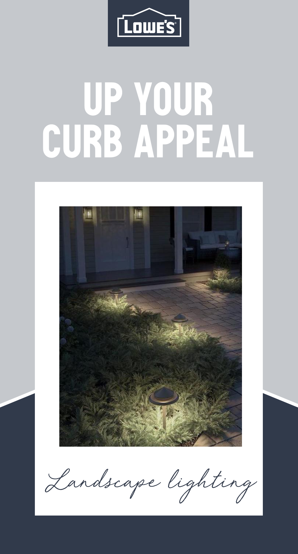 Light The Way With Outdoor Lighting Options From Lowe S These Easy To Setup Pathway Lights Will Ad Landscape Lighting Front Porch Landscape Backyard Oasis Diy