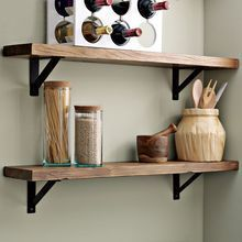 reclaimed wood shelves... need to use the barnwood I have left to make these for boy's rooms.