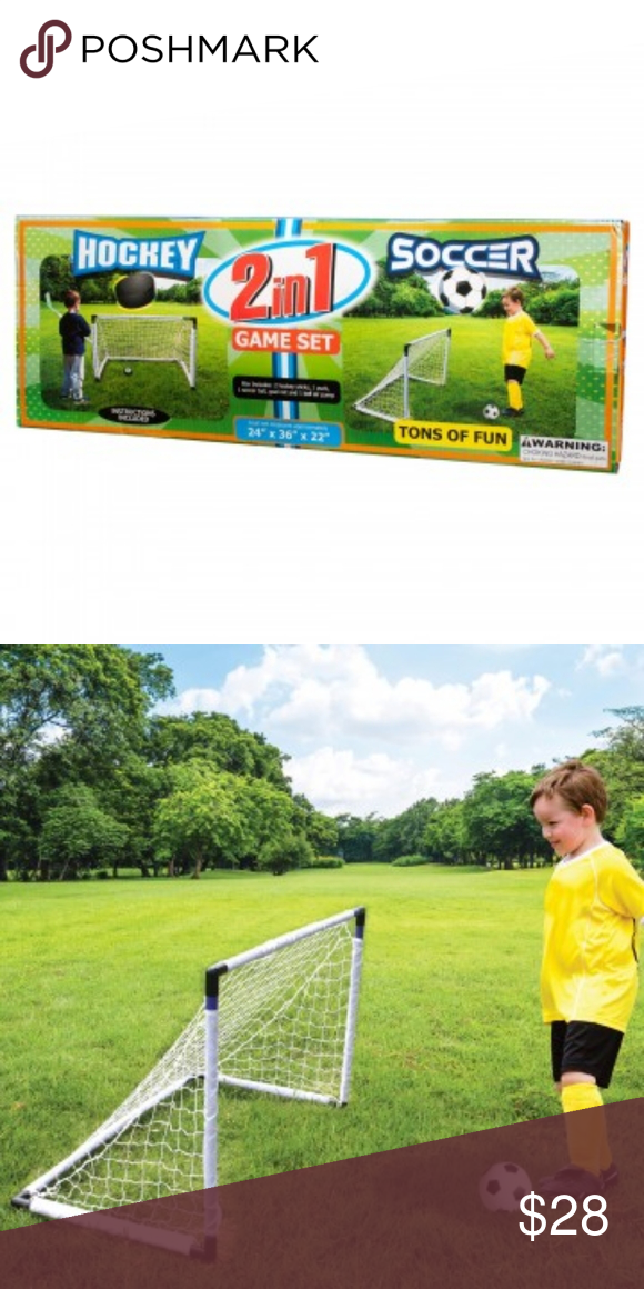 2 In 1 Soccer Hockey Game Set Great For Keeping Children Active And Wearing Off Their Energy This 2 In 1 Soccer Hockey Game Set Soccer Hockey Games Hockey