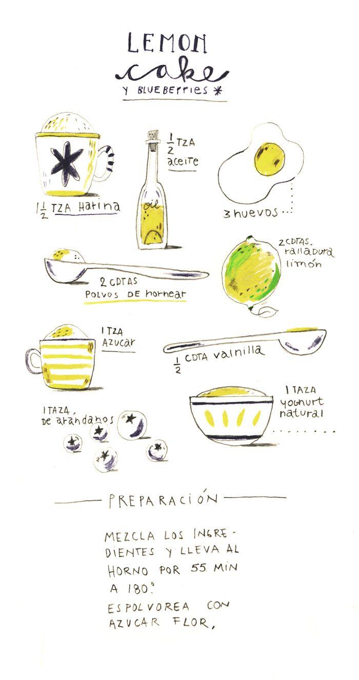 Lemon Cake Y Blueberries Pau Morgan Food In 2018 Pinterest