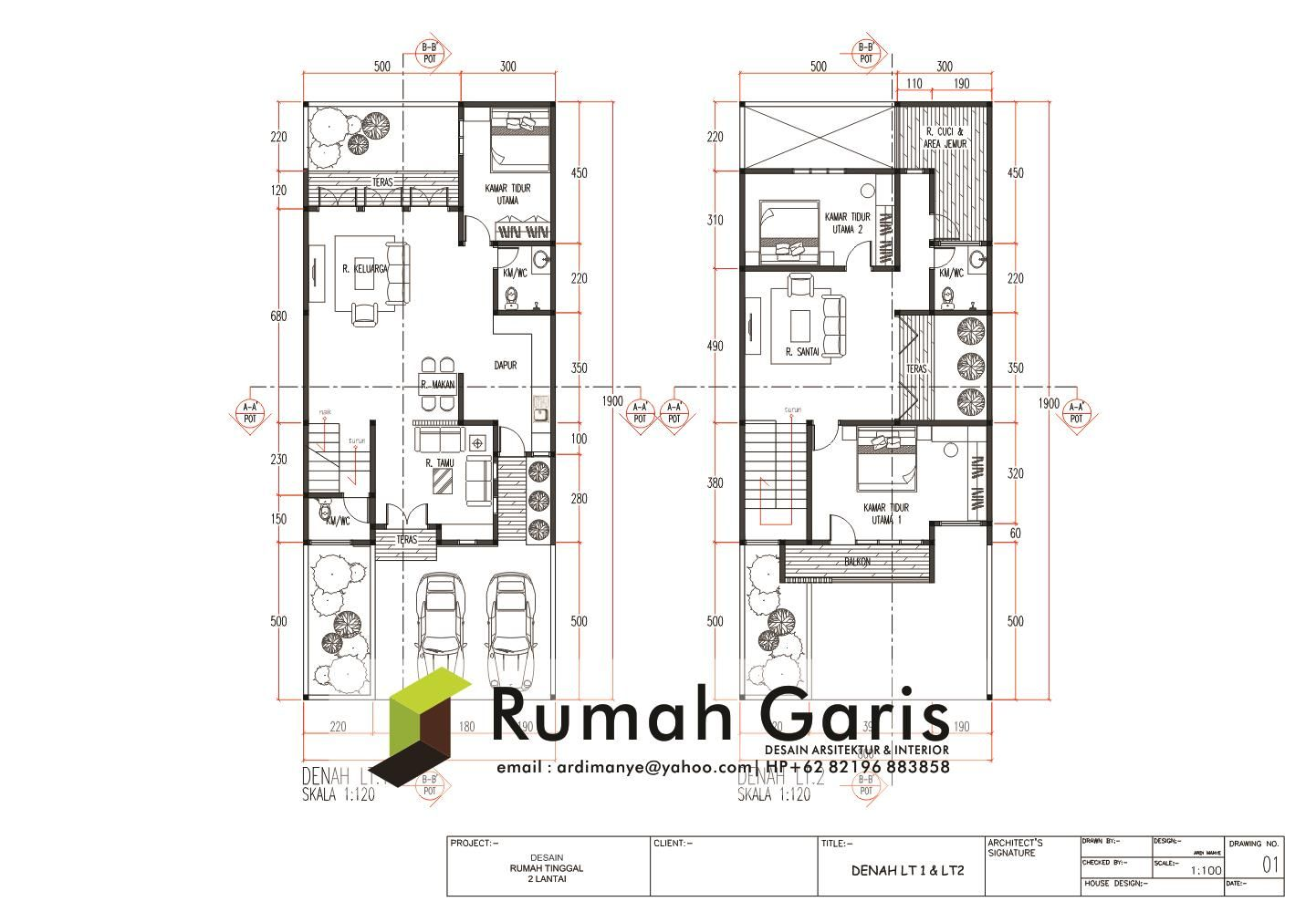 Image Result For Denah Rumah Villa