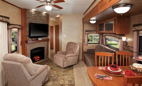 Tight squeeze living! Couch/daybed in corner with overhead storage ...