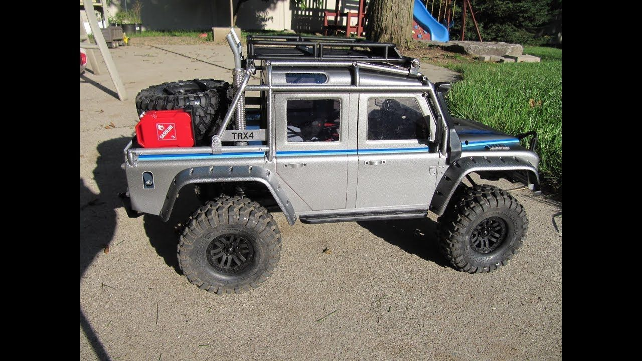 RC Traxxas TRX4 Land Rover Body Conversion/Mod to Pickup Truck Part