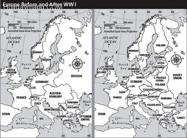 europe map after ww1 cool Map of europe before and after wwi | Europe map, Wwi, Ww images