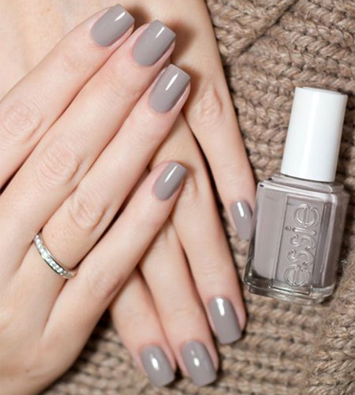 Winter Nail Color - Gray   Winter nail colors, Winter nails and Nail ...