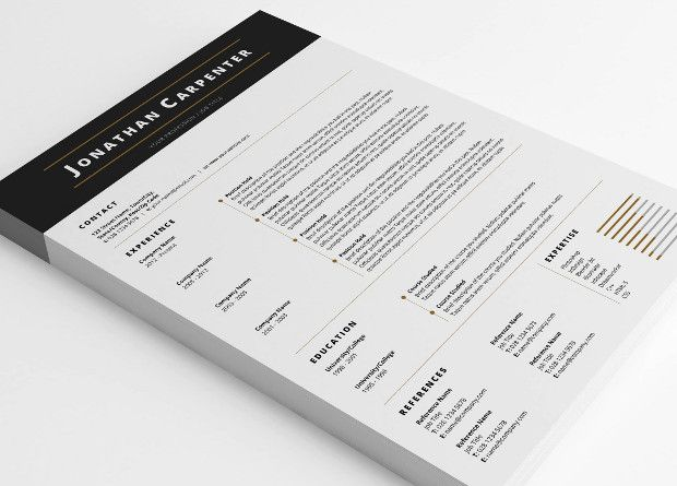 resume-template Personal branding Pinterest Creative resume - recommended font for resume