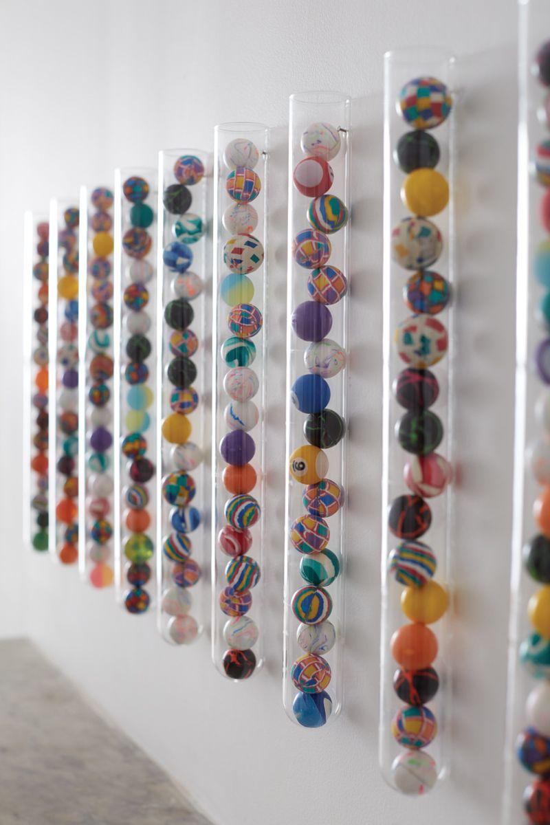 Super Easy Super Ball Art Diy Diy Wall Art Diy Wall Creative
