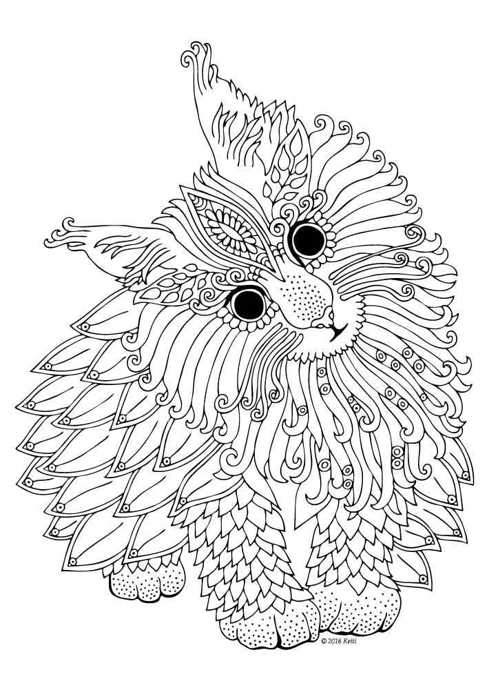 Coloring Page Illustration By Keiti Mandalas Animales Dibujos
