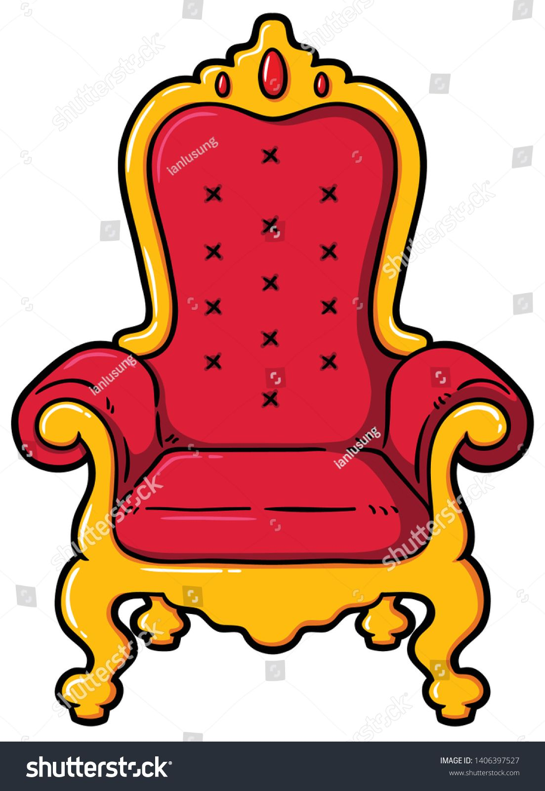 Vector Cartoon Golden Throne Chair Sponsored Sponsored Cartoon Vector Golden Chair In 2020 Throne Chair Throne Chair