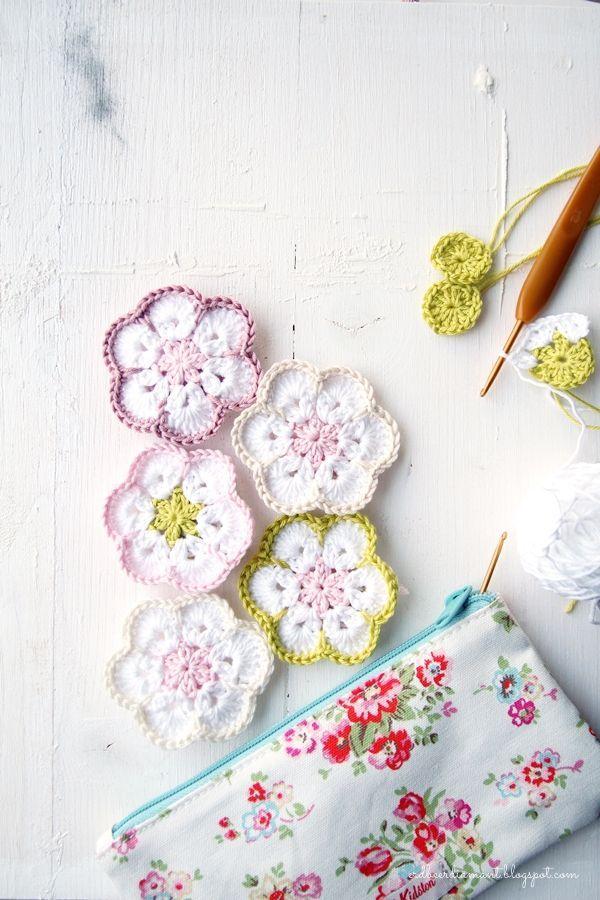 Erdbeerdiamant Pinterest Häkeln Gehäkelte Blumen Und Häckeln