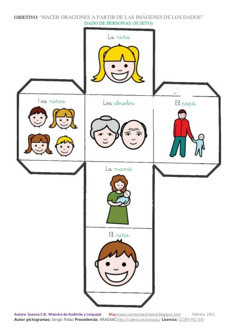 Dados hacer oraciones | Oraciones para niños, Dados, Juegos para la escuela