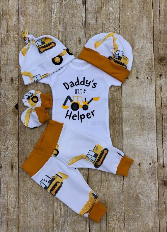 9b23a842be2e Construction Daddy s Little Helper Infant Outfit