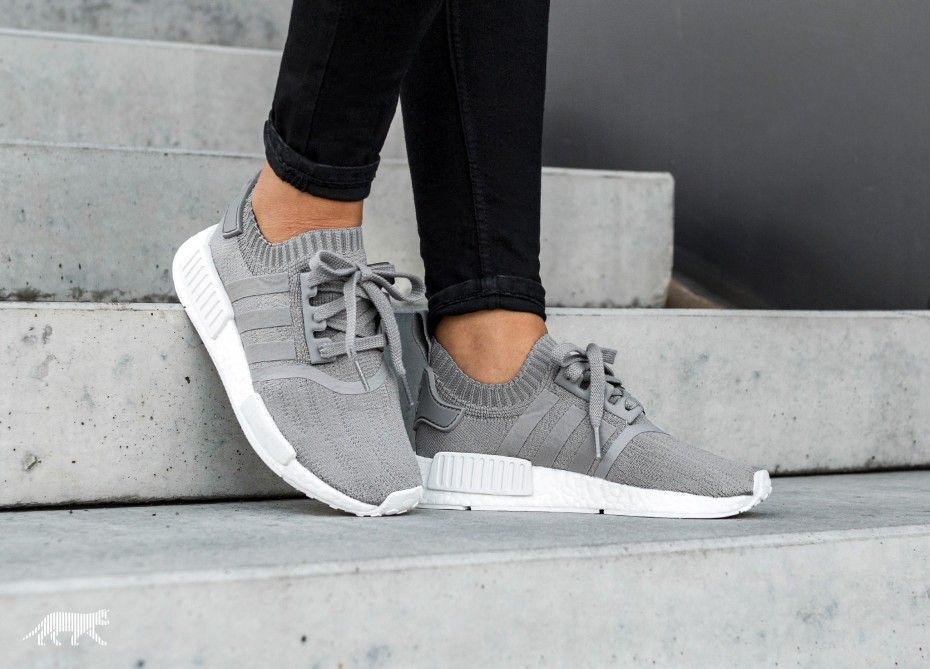 on sale 8727e 60088 adidas NMD R1 W PK (Grey Three / Grey Three / Ftwr White ...