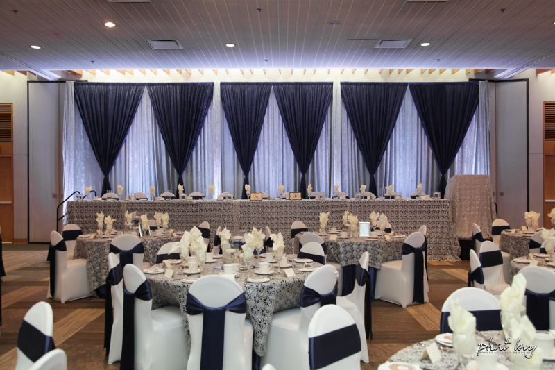 Navy Blue Silver Backdrop Phat Boy Productions Windsor Wedding