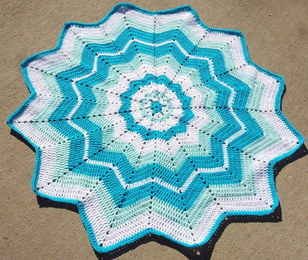 Beginners round ripple vintage fans stitch and fans beginners round ripple crochet blanket patternscrochet bankloansurffo Images