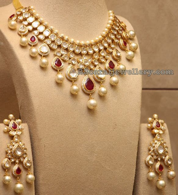 Pachi Necklace with Earrings Indian jewelry Jewel and Jewelery