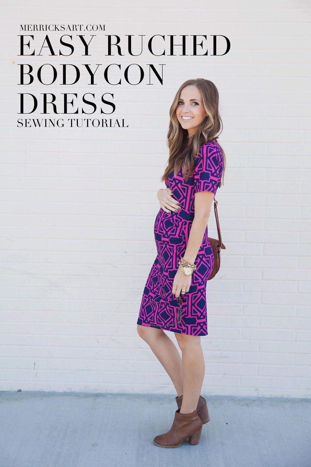 DIY FRIDAY: EASY RUCHED BODYCON DRESS (MATERNITY OR NON) | Vestidos ...