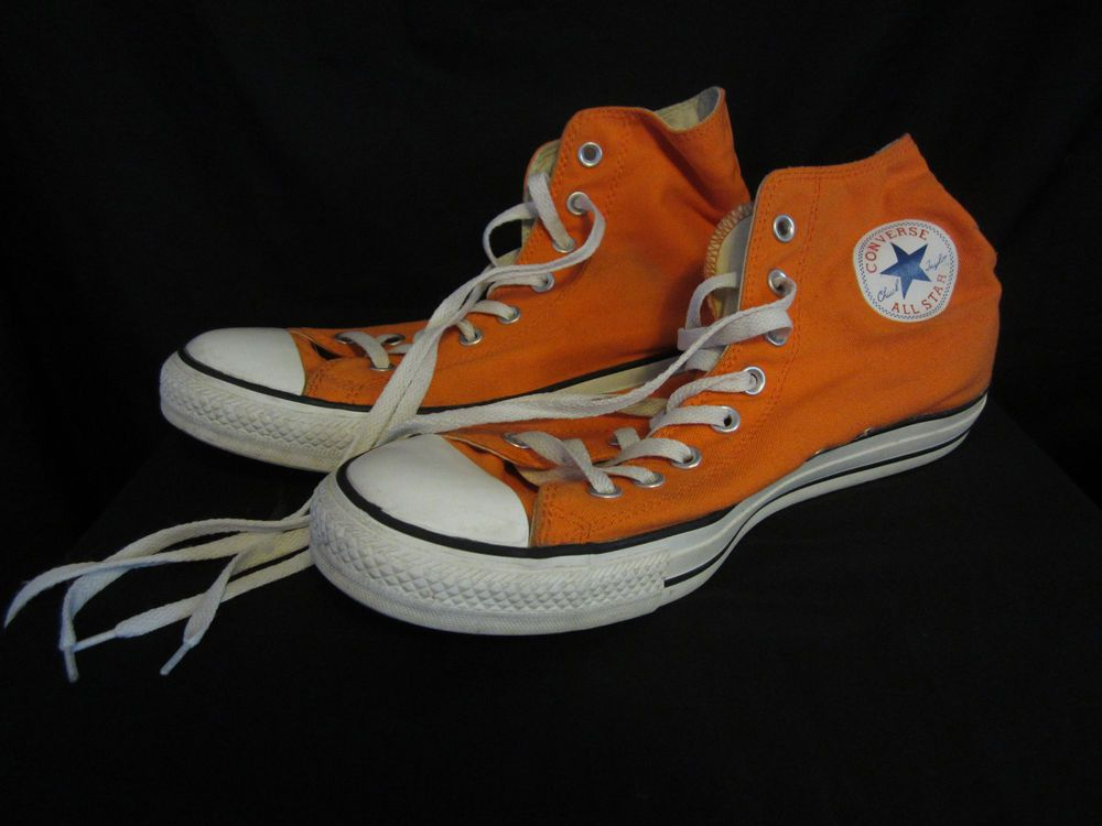 b216f5aa036b Orange Converse Chuck Taylor All Star Hi-Tops Men s Size 11 Women s Size 13   fashion  clothing  shoes  accessories  unisexclothingshoesaccs ...