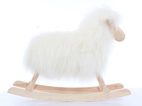 mouton scandinave a bascule blanc