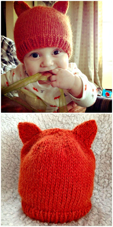50 Free Crochet Fox Patterns - Crochet Fox Hat | Tejidos bebe ...