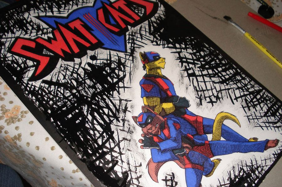SWAT Kats - poster by JuliQuadrinhos on deviantART