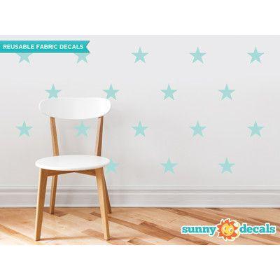 Sunny Decals Stars Wall Decal Color: Aqua