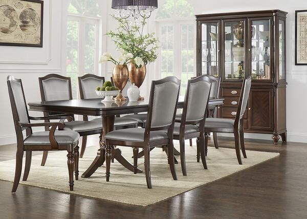 Camilla 5Pc Dr Silver Chair Was $119994 Sale $99999  The New Simple The Room Place Dining Room Sets Decorating Inspiration