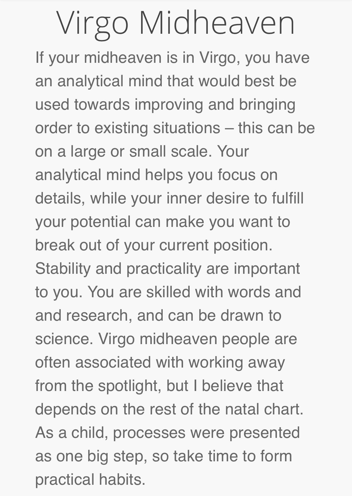 Virgo Midheaven: Career | Words To Live By | Pluto in