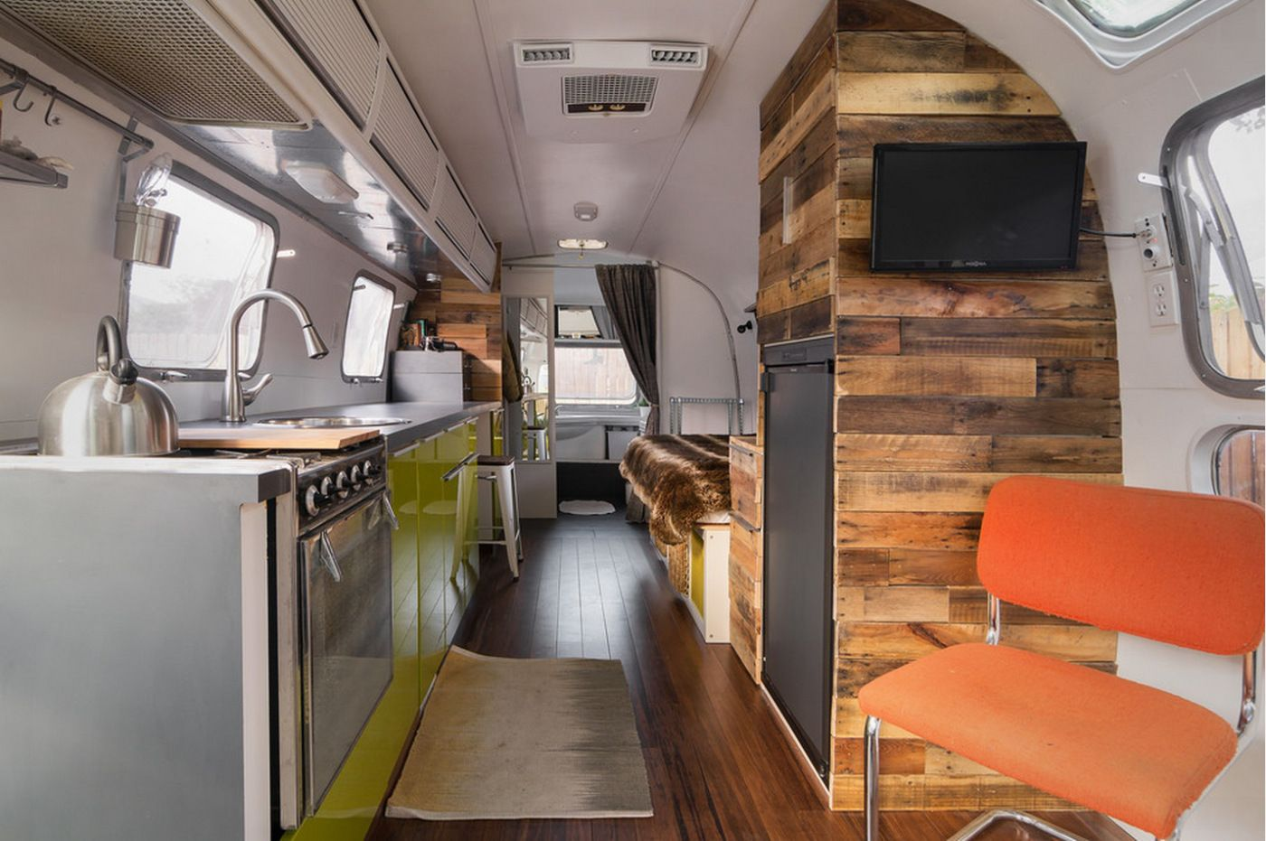 Interior Of Refurbished Airstream With Images Airstream