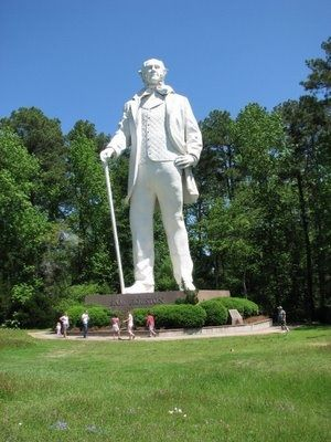 Huntsville Texas Statue Of Sam Houston On Highway 45