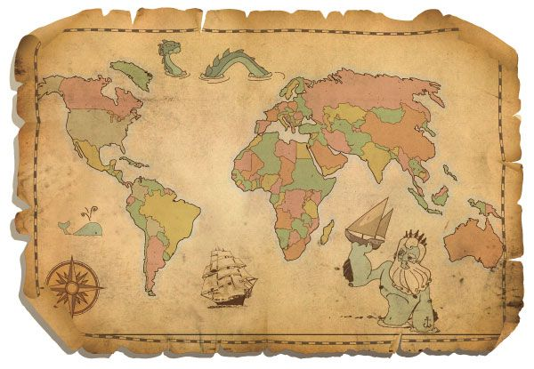 Free antique world map vector free vector graphics vector free antique world map vector download free vector graphics gumiabroncs Gallery