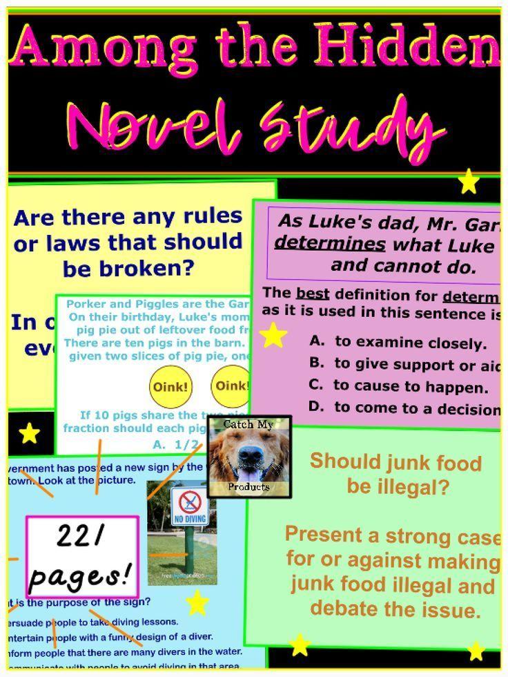 Among the hidden novel study book study student reading