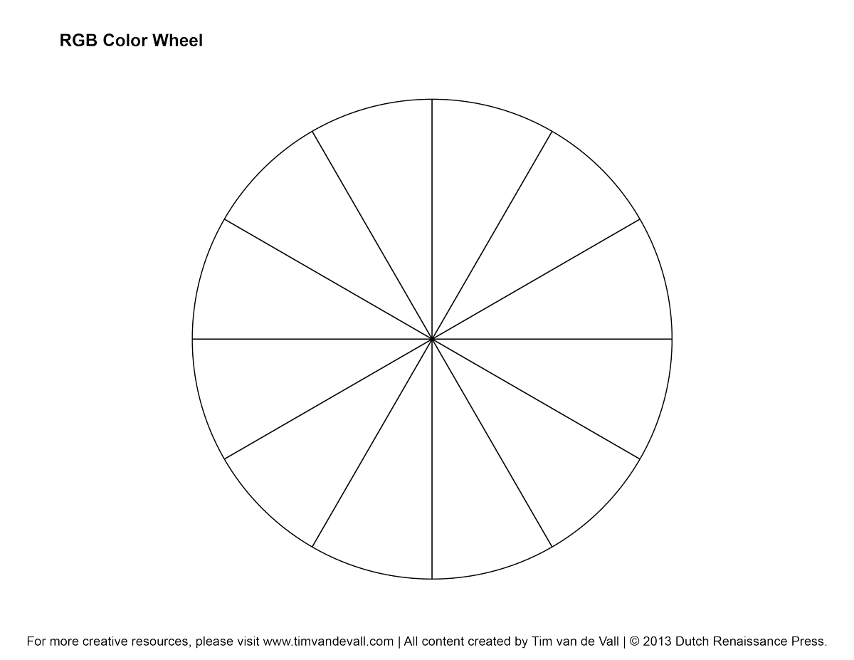 Blank Color Wheel Use To Practice Hand Position Holding Techniques And Experiment With
