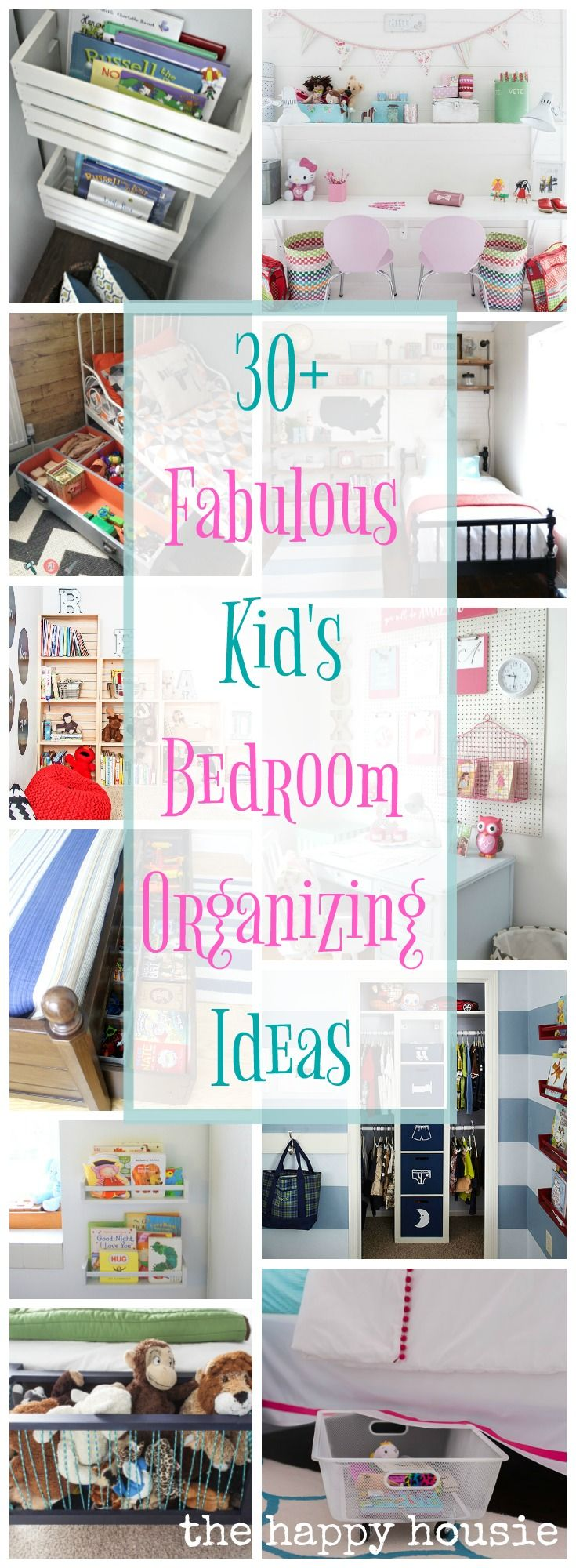 Fantastic Ideas for Organizing Kid's Bedrooms is part of Kids bedroom Organization - Are you looking for some fantastic ideas for organizing kid's bedrooms  From closet organization to under bed storage, book storage and work areas