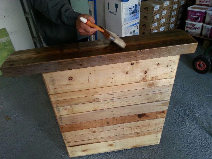Reparar palet para fabricar mesa pallets pinterest - Reciclaje de palet ...