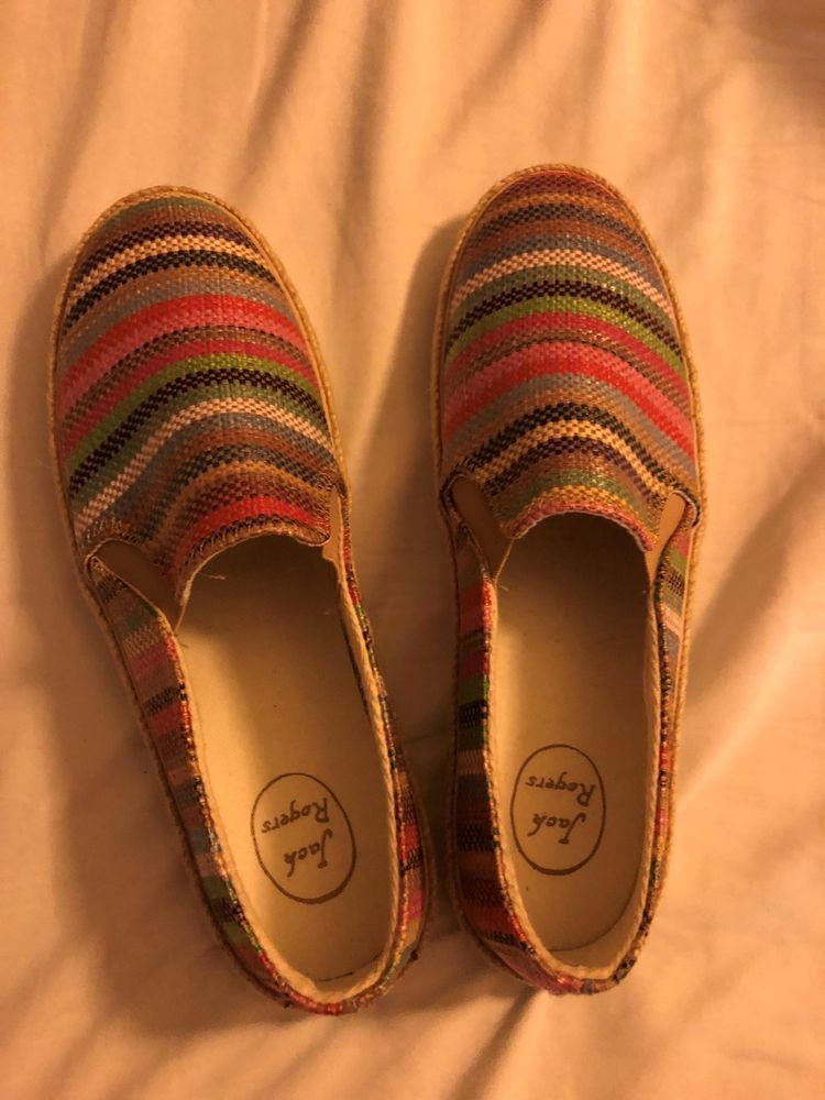 806d358bf499 Jack Rogers Colorful Striped Womens Shoes Size 9  fashion  clothing  shoes   accessories  womensshoes  sandals (ebay link)