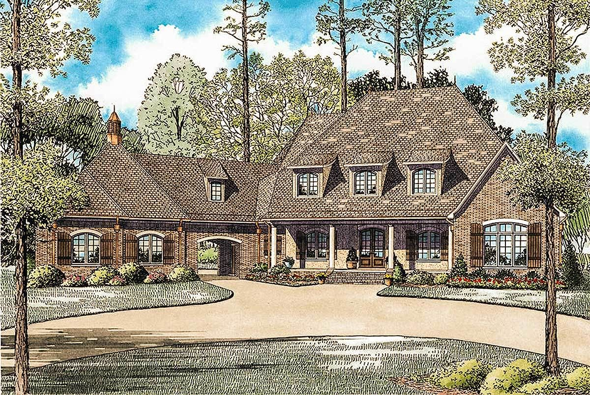 Plan 60593ND Six Bedrooms for the Large