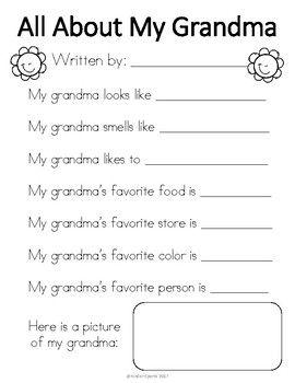 Grandparent's Day Gift- All About My Grandma & Grandpa #grandparentsdaycrafts