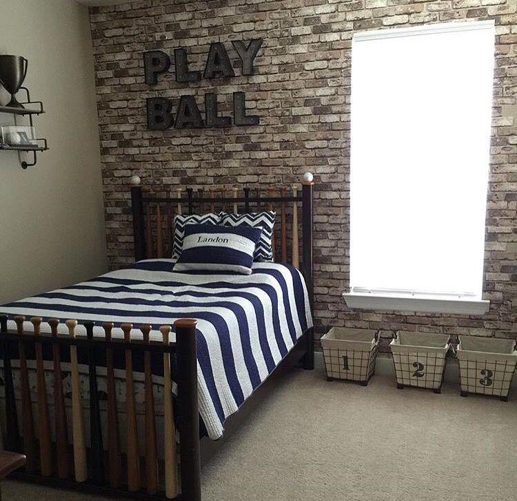 Pin By Alison Lombardo On Boys Bedroom Vintage Baseball Room