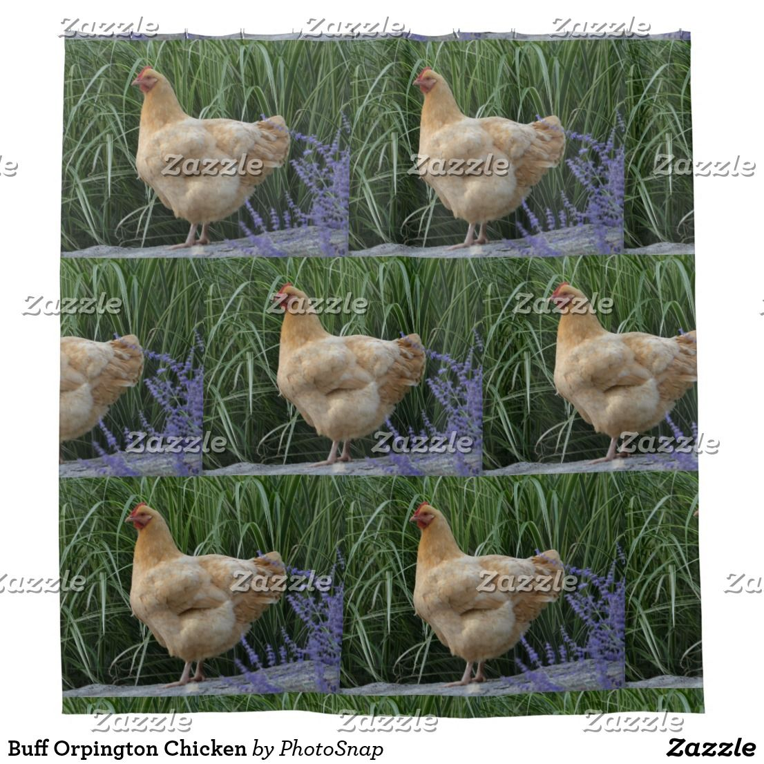 Buff Orpington Chicken Shower Curtain Zazzle Com Buff Orpington Cool Shower Curtains Pet Gifts