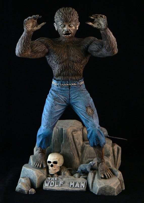 Aurora Monster Model Kit The Wolf Man Universal Classic