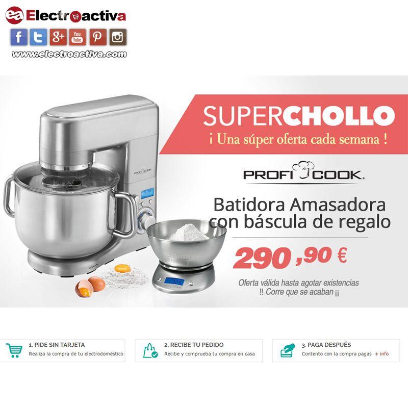 ¡Amasadora de alto rendimiento y alta calidad! Esta semana #Superchollo Batidora Amasadora PROFICOOK KM 1096 a 290,90 € ¡¡Incluye báscula de regalo!! https://www.electroactiva.com/proficook-km-1096-batidora-amasadora-profesional-10-litros-1500w.html #Elmejorprecio #Chollo #Amasadora #Batidora #Menaje