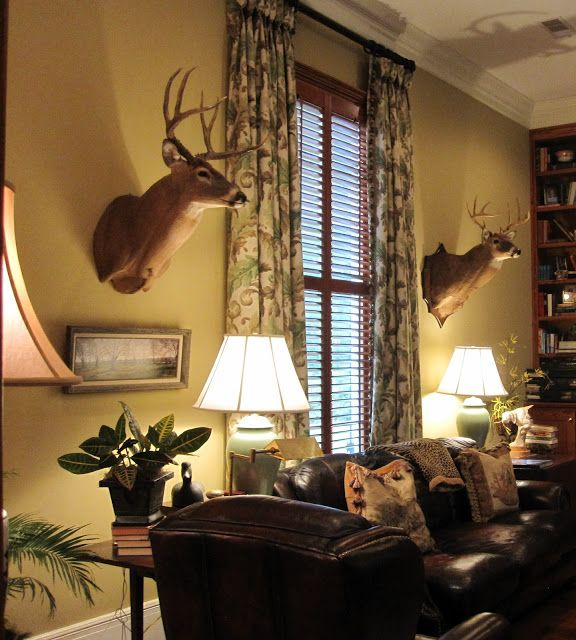 Deer Head Mount Living Room Decor Deer Living Room Camo Living