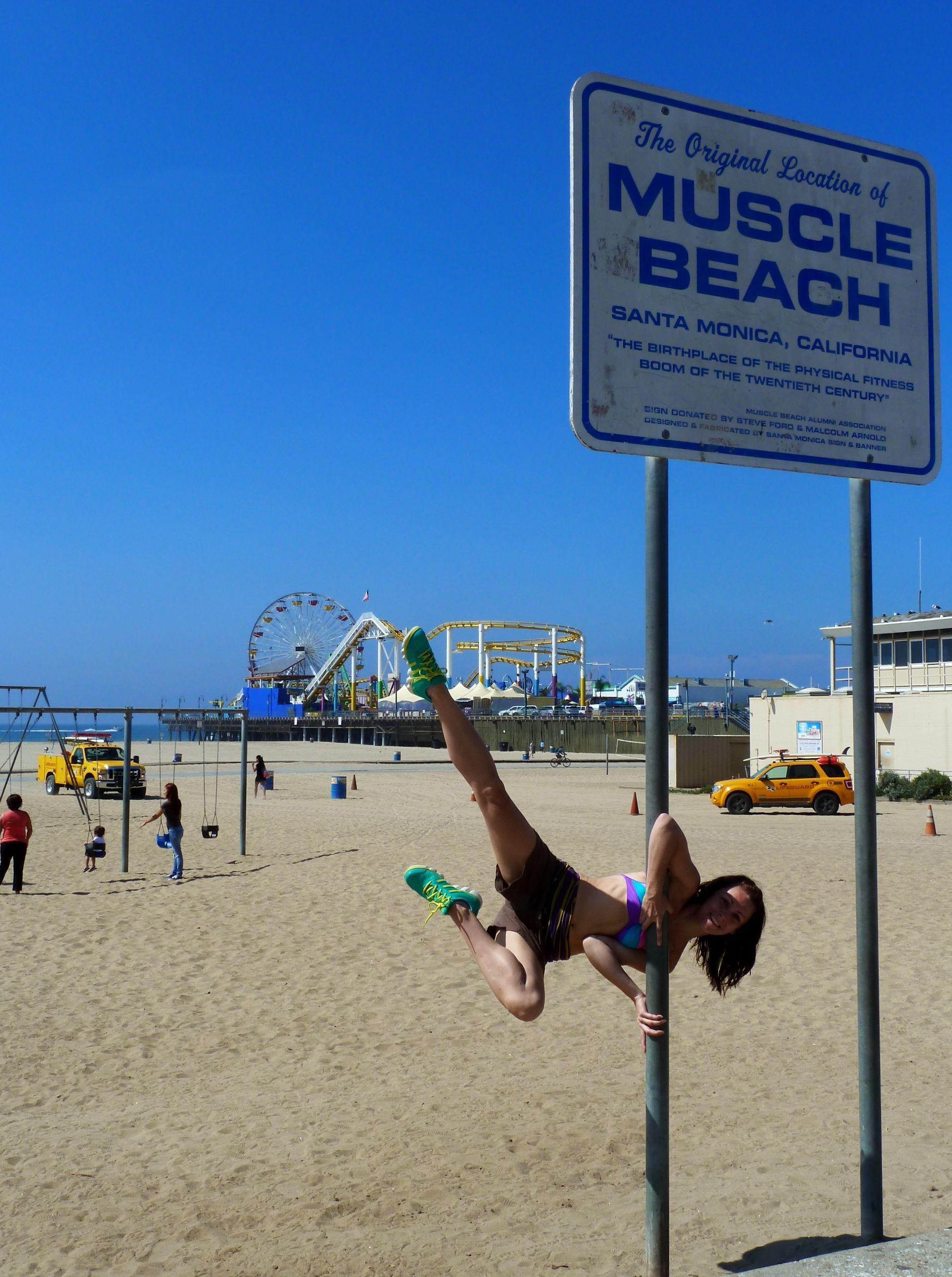 Me At The Original Muscle Beach Santa Monica La Perfect Body