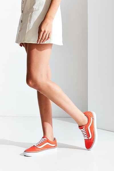 Vans Orange Old Skool Sneaker | Orange vans, Vans outfit