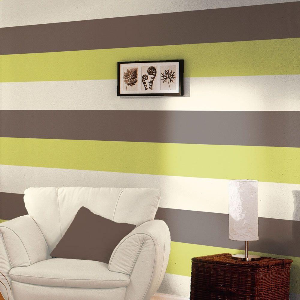 Stripe Wallpaper Chocolate, Lime & Cream Direct Wallpapers E40904 ...