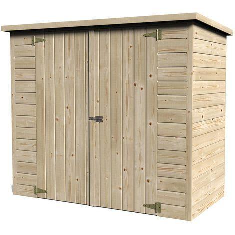 Coffre de rangement en bois pour vélo Bike box - 11750-000 ...
