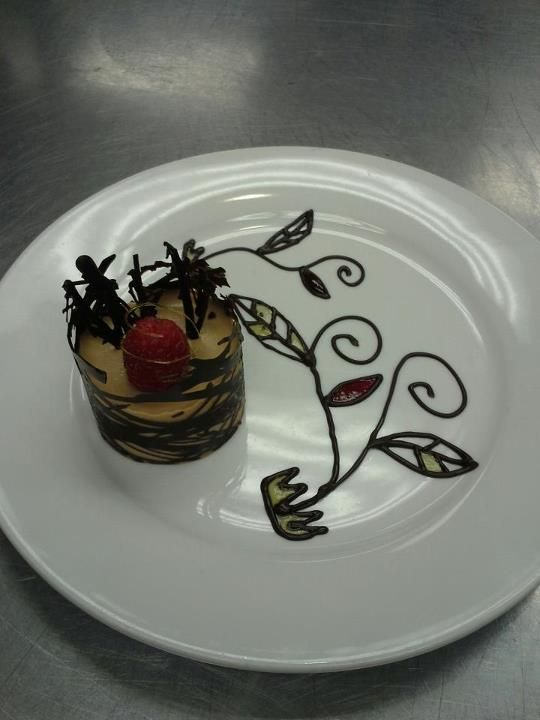 First Plated Dessert Chocolate Mousse Lace Cup With