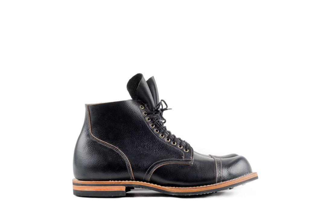 Viberg Service Boot Black Scotch Grain Cordovan